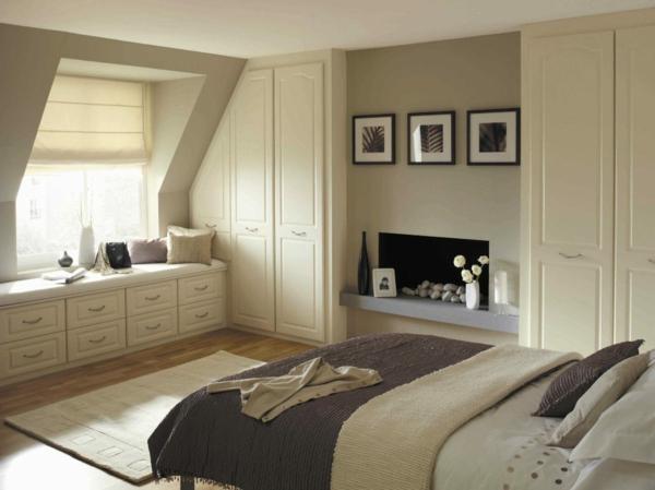 Gestaltung schlafzimmer mit dachschräge