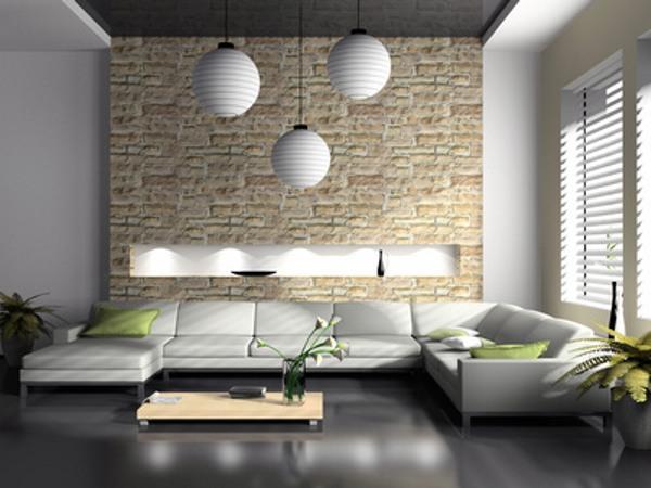 Wohnzimmer Idee Modern ~ Gestaltung wohnzimmerwand