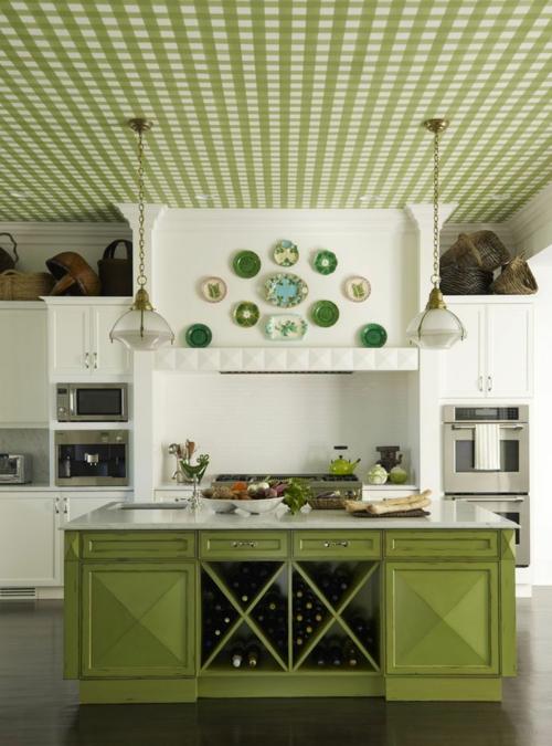 Grüne küche deko