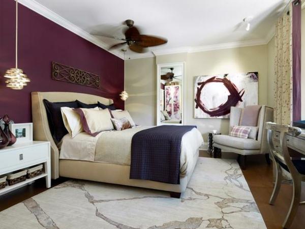 Ideen wandgestaltung farbe schlafzimmer