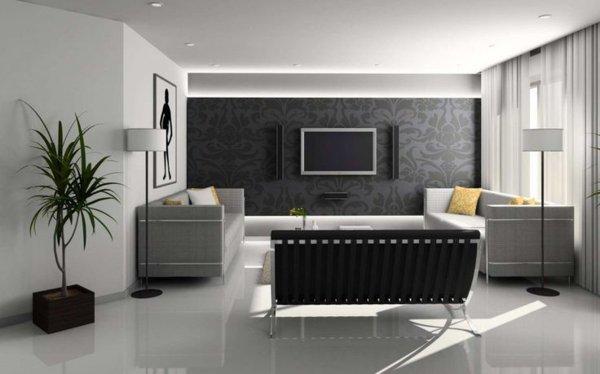 ideen wohnzimmer w nde gestalten. Black Bedroom Furniture Sets. Home Design Ideas
