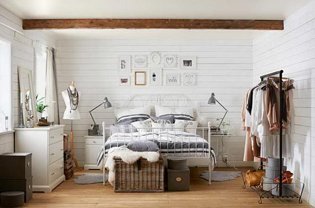 schlafzimmer shabby chic einrichten
