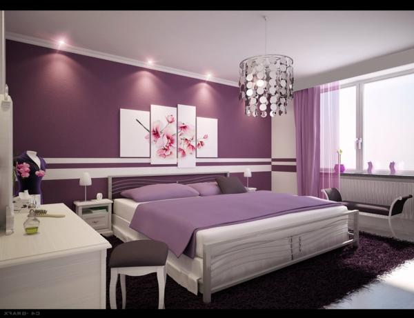 Moderne wandfarben schlafzimmer
