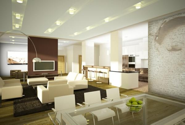 moderne wohnzimmer beleuchtung. Black Bedroom Furniture Sets. Home Design Ideas