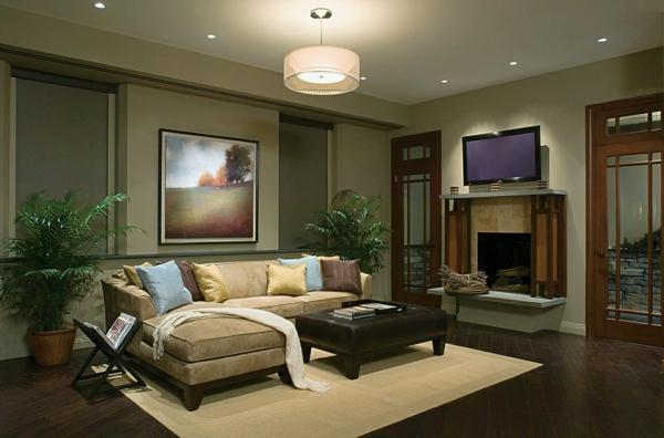 Moderne wohnzimmer beleuchtung