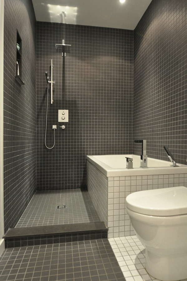 modernes kleines bad. Black Bedroom Furniture Sets. Home Design Ideas