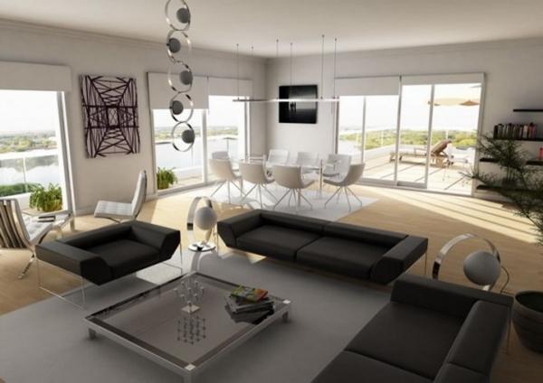 Offenes wohnzimmer gestalten
