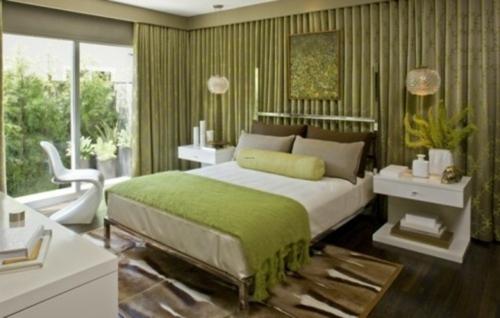 Schlafzimmer deko grün