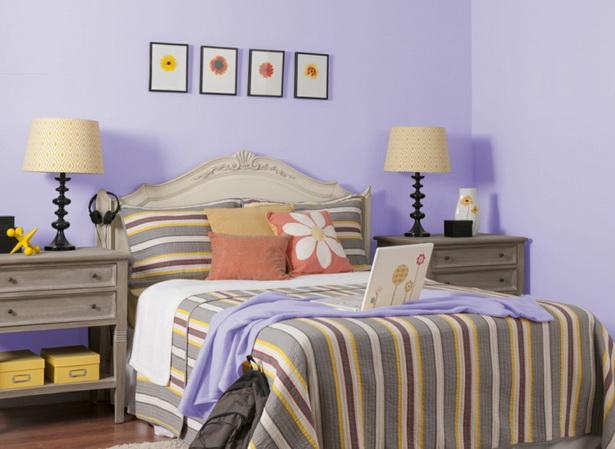 Schlafzimmer deko lila
