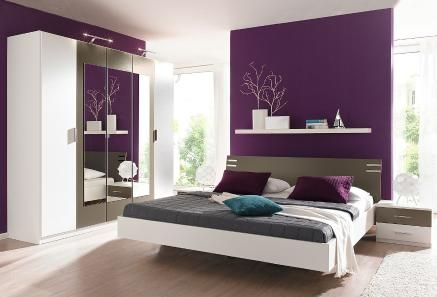 schlafzimmer deko lila. Black Bedroom Furniture Sets. Home Design Ideas