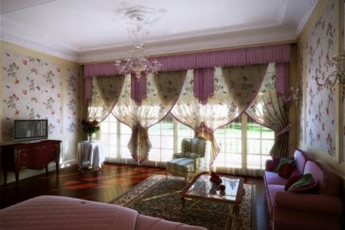 Romantische Schlafzimmer Designs Gardinen Große Fenster Erleuchtung  Einmalig Interieur Ahnung