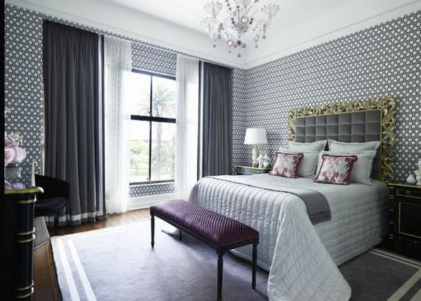 Wände Gestalten Mit Farbe Grau Im Schlafzimmer