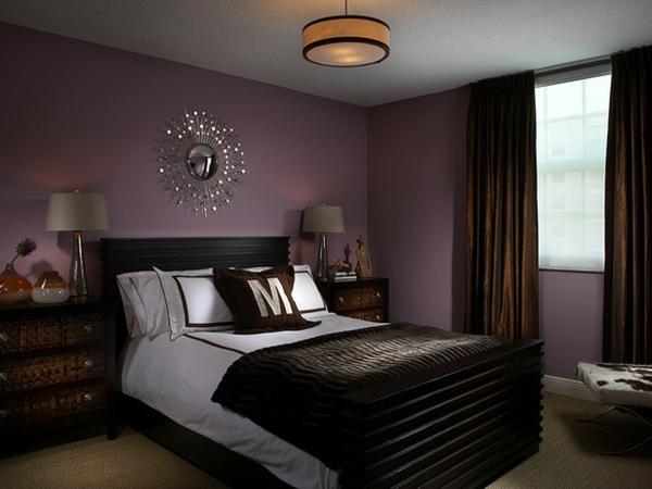 Schlafzimmer gestalten lila