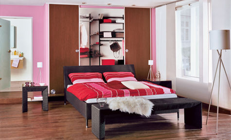 schlafzimmer gestalten mit farbe. Black Bedroom Furniture Sets. Home Design Ideas