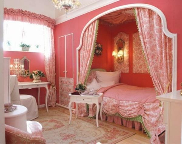 schlafzimmer schlafzimmer romantisch rosa das zimmer in paris style einrichten ideen fr teenager m - Schlafzimmer Gestalten Romantisch
