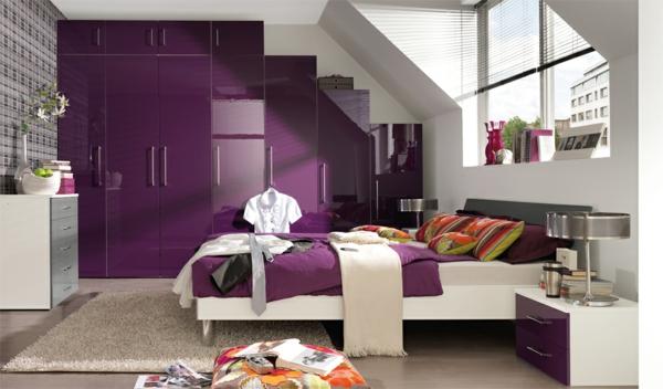 zwei farben schlafzimmer beige lila wand ideen aussehend lndlich residenz vorstellung - Schlafzimmer Beige Lila