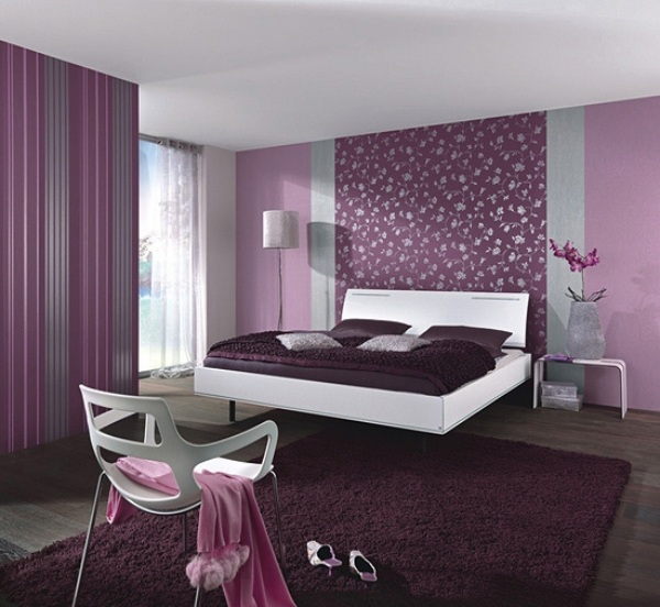 Schlafzimmer ideen lila