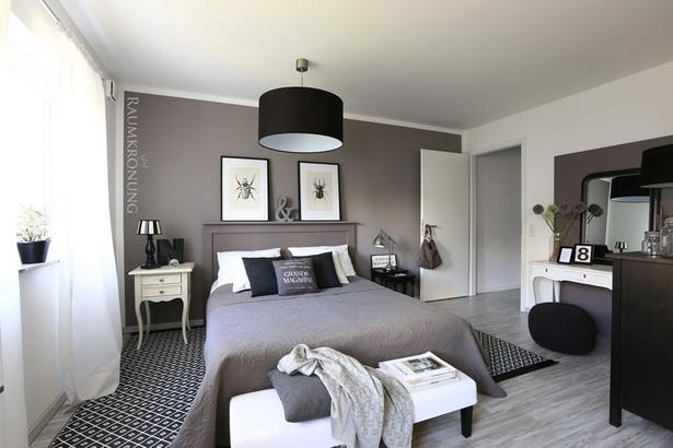 schlafzimmer ideen schwarz wei