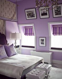 Schlafzimmer in lila gestalten
