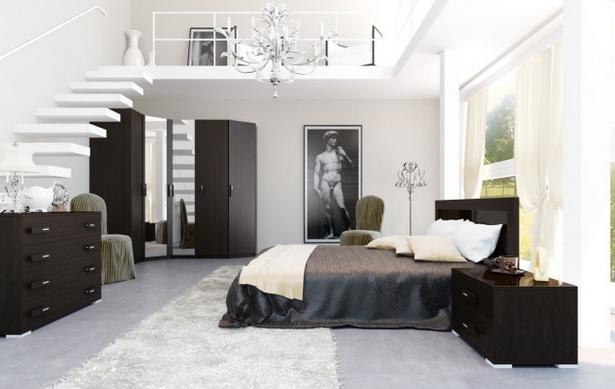 Schlafzimmer in schwarz weiß gestalten