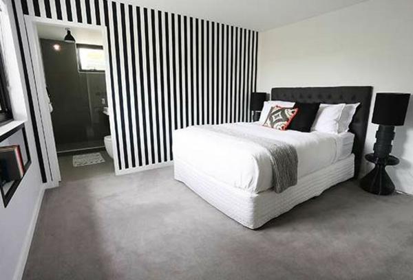 schlafzimmer schwarz wei deko. Black Bedroom Furniture Sets. Home Design Ideas