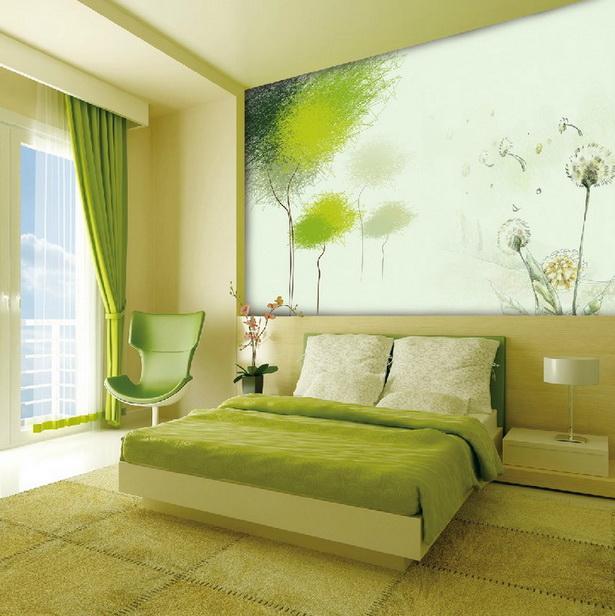 Frische Wand Streichen Idee Fürs Kinderzimmer. Frische Wandgestaltung In  Grün Für Schlafzimmer