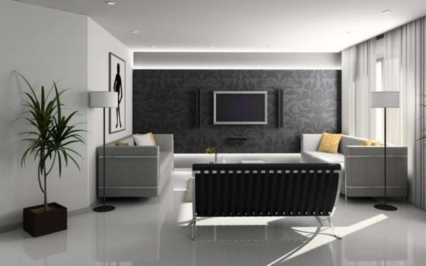 Wandgestaltung ideen wohnzimmer
