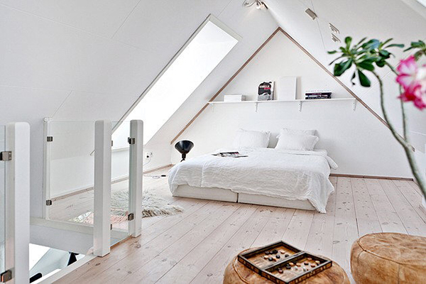 Wandgestaltung schlafzimmer dachschräge