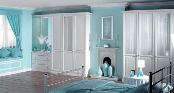 Schlafzimmer Hellblaue Wand Mit Weißen Möbeln: Weiße Möbel Schlafzimmer