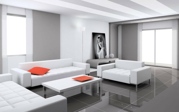 emejing wohnideen wohnzimmer grau wei contemporary. Black Bedroom Furniture Sets. Home Design Ideas