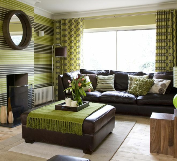 Wohnideen Wohnzimmer Braun Grn Gruene Wandfarben Idee: Wohnideen Wohnzimmer Grün