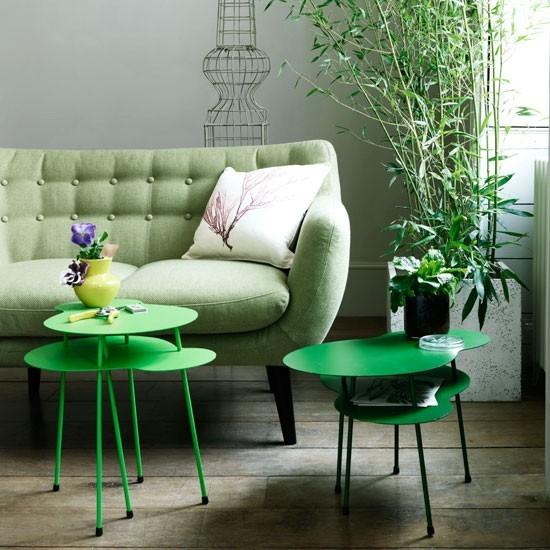 Wohnideen Wohnzimmer Grün Hoch Modern Deko