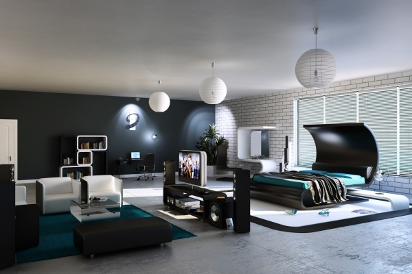 wohnideen wohnzimmer schwarz wei. Black Bedroom Furniture Sets. Home Design Ideas