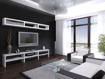 Wohnideen wohnzimmer schwarz weiß
