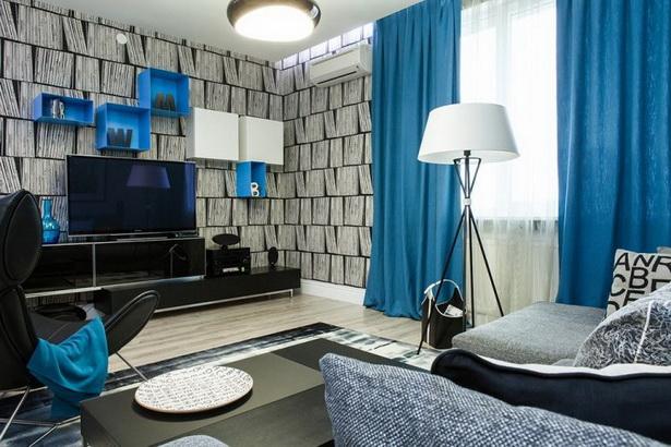 Wohnzimmer gestalten farblich