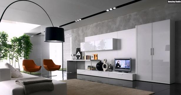Wohnzimmer gestalten grau