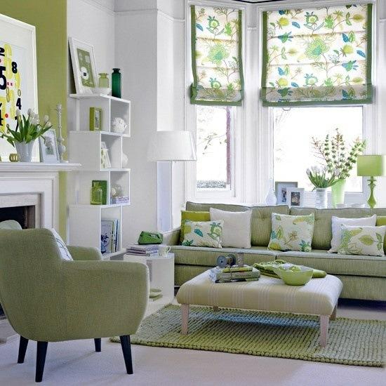 Wohnzimmer gestalten grün
