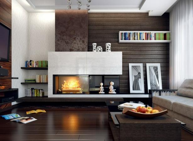 Wohnzimmer mit kamin gestalten