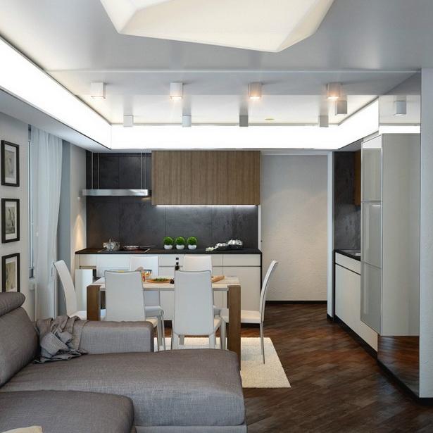 wohnzimmer mit k che einrichten. Black Bedroom Furniture Sets. Home Design Ideas