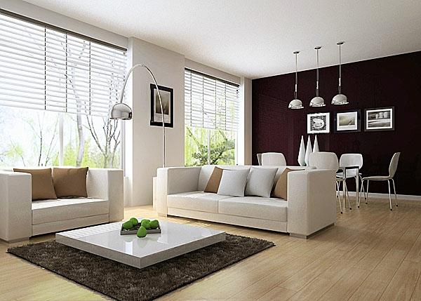 Wohnzimmer mit küche einrichten