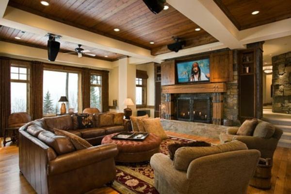 Wohnzimmer rustikal gestalten