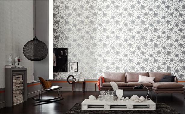 wohnzimmer tapeten sch ner wohnen. Black Bedroom Furniture Sets. Home Design Ideas