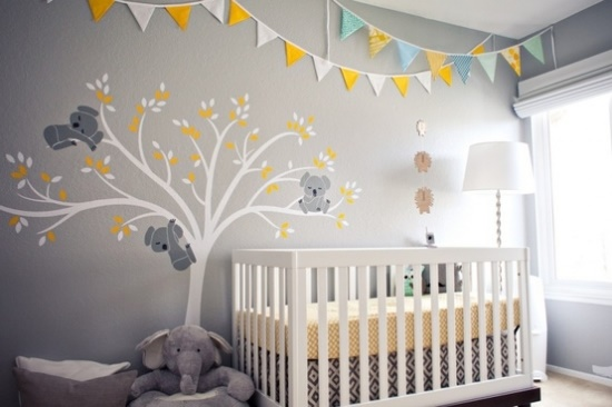 Baby kinderzimmer ideen - Kinderzimmer streichen vorlagen ...