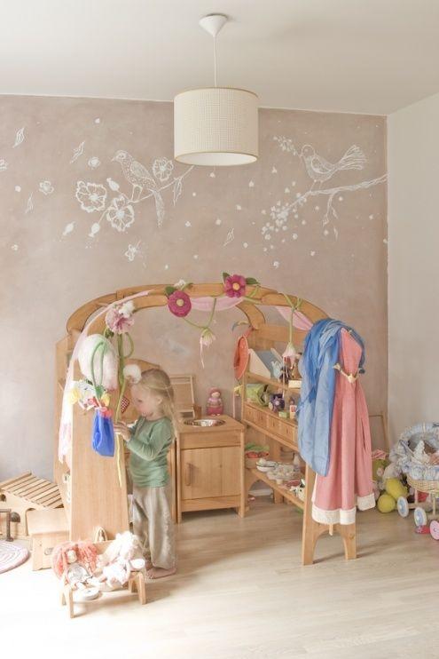 Baby kinderzimmer wandgestaltung for Baby kinderzimmer dekoration
