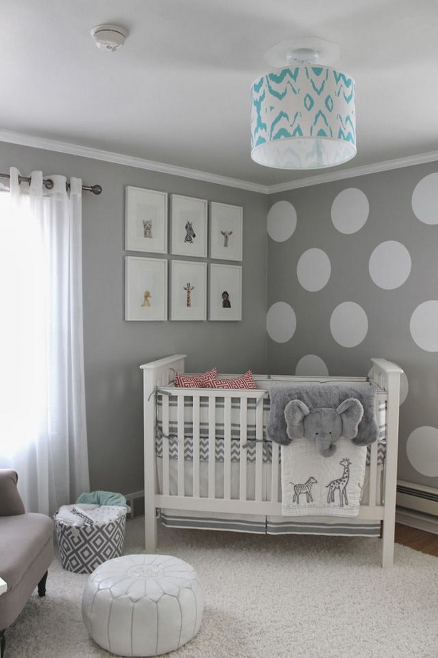 Baby kinderzimmer wandgestaltung for Babyzimmer braun