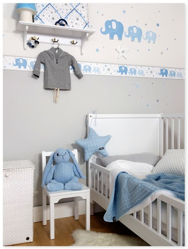 babyzimmer blau grau. Black Bedroom Furniture Sets. Home Design Ideas