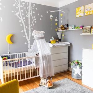 Babyzimmer f r kleine r ume - Babyzimmer gestalten gelb ...