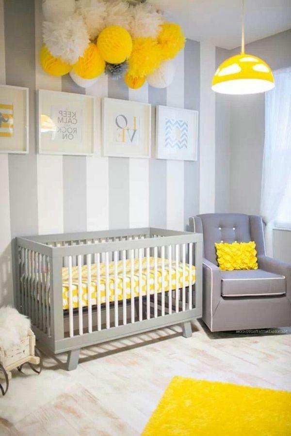 Babyzimmer wandgestaltung beispiele neutral neues wohndesign for Babyzimmer neutral
