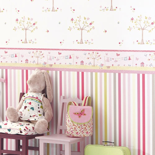babyzimmer tapete gestaltung. Black Bedroom Furniture Sets. Home Design Ideas