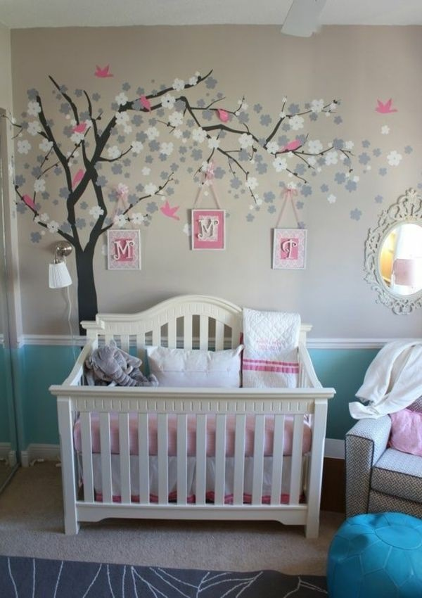 babyzimmer wandgestaltung baum. Black Bedroom Furniture Sets. Home Design Ideas